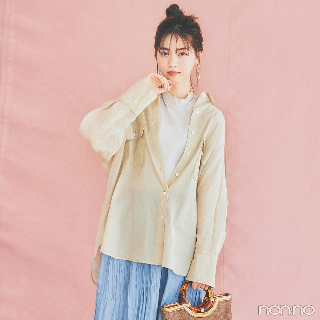 とろみシャツとサテンスカートで#stayhomestyleを楽しむ!【毎日コーデ】_1_2-2