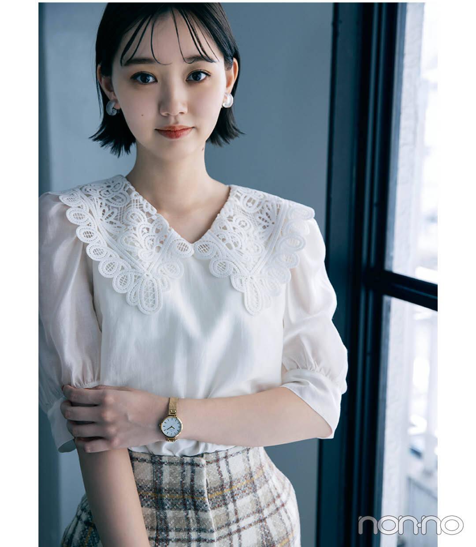 江野沢愛美の秋のクラシカルトップスモデルカット1-7