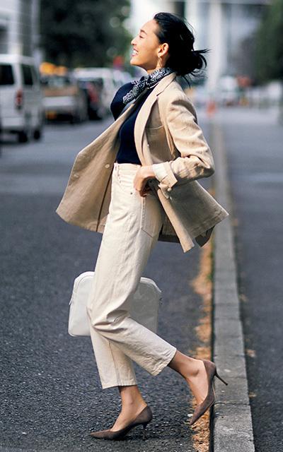 軽やかに女らしく! 柔らか色のリネンジャケット【アウター感覚の旬ジャケット】_1_1