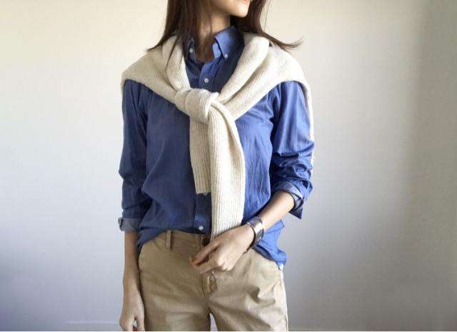 春本番 こなれたシャツの着方をご紹介【40代 私のクローゼット】_1_5