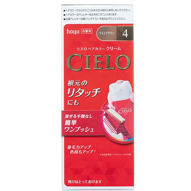 シエロ ヘアカラーEXクリーム 1剤40g、2剤40g 4(医薬部外品 オープン価格)/ホーユー