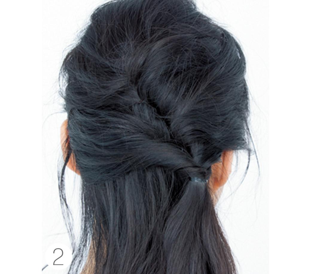 ミディアムからOK★簡単なのに女子会でモテちゃうヘアアレンジはコレ!_1_3-2