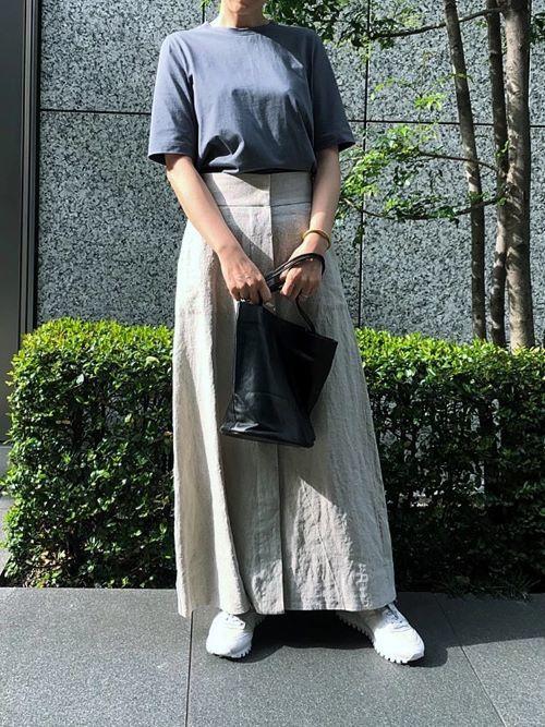 徳原文子×Chaos リネンスカート ¥29,700
