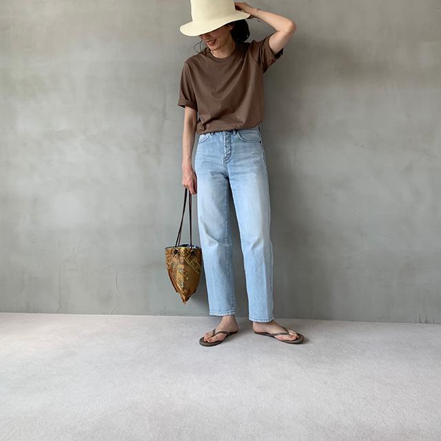 夏のブラウンで品よくこなれる! 大人のプチプラ高見えも叶えるブラウンコーデまとめ 40代ファッション_1_16