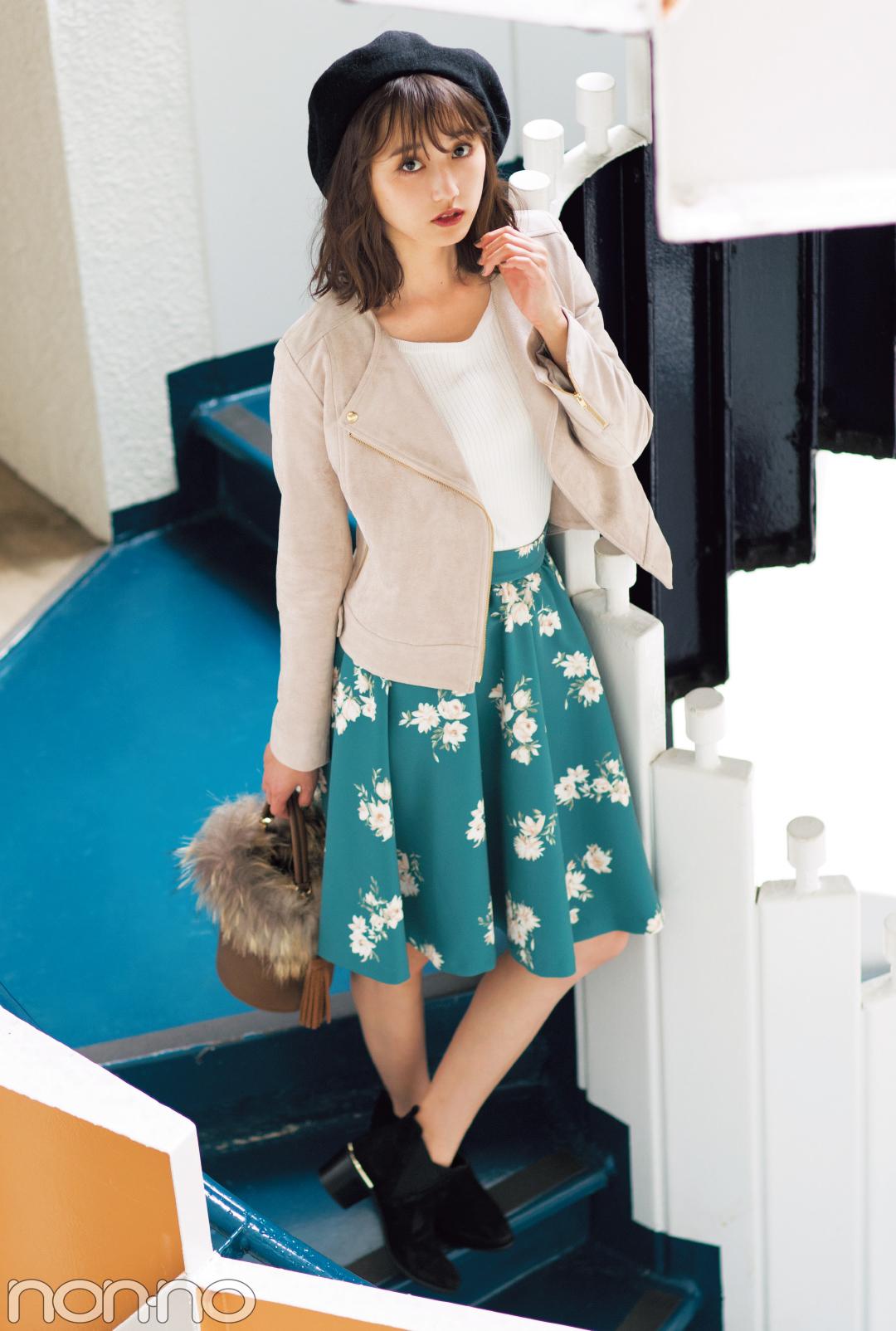 鈴木友菜が着る! この秋、絶対欲しい花柄スカート5選_1_1