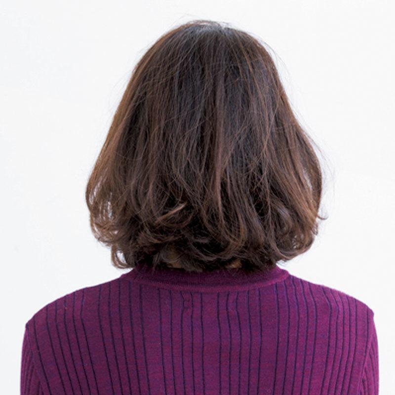 女性らしいけど抜け感もあるフェミニンロブヘア【40代のボブヘア】_1_1-3