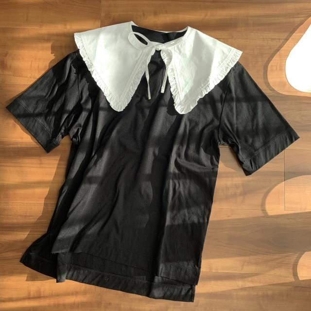 つけ襟コーデのバリエーション♡セーター・Tシャツ・ワンピース‼︎_1_3-1