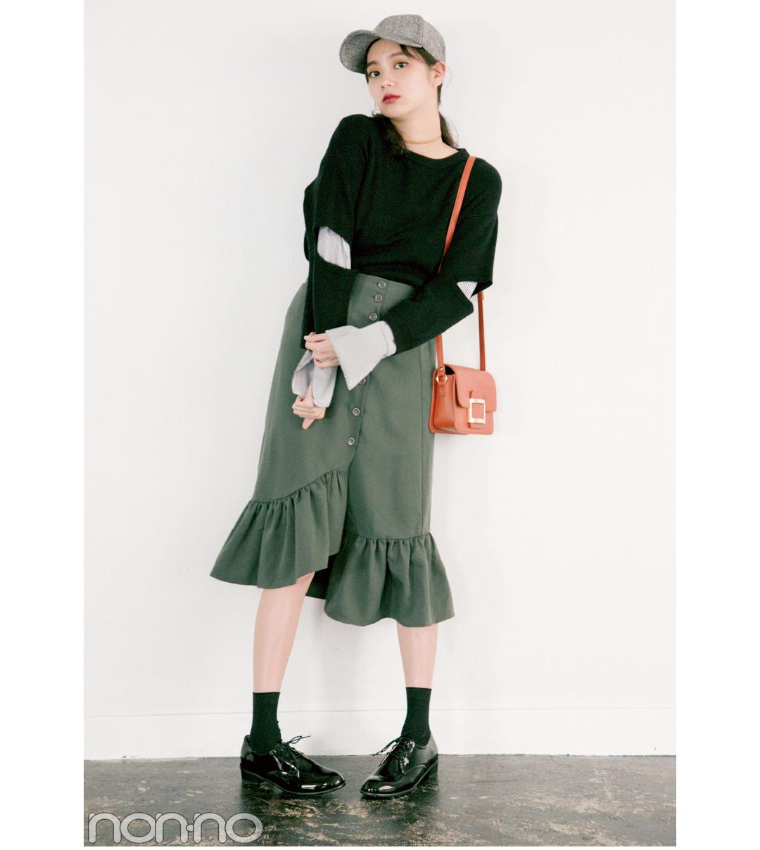 今ドキ韓国ファッション、色っぽ揺れ感のマーメイドスカートがブーム!_1_2-1