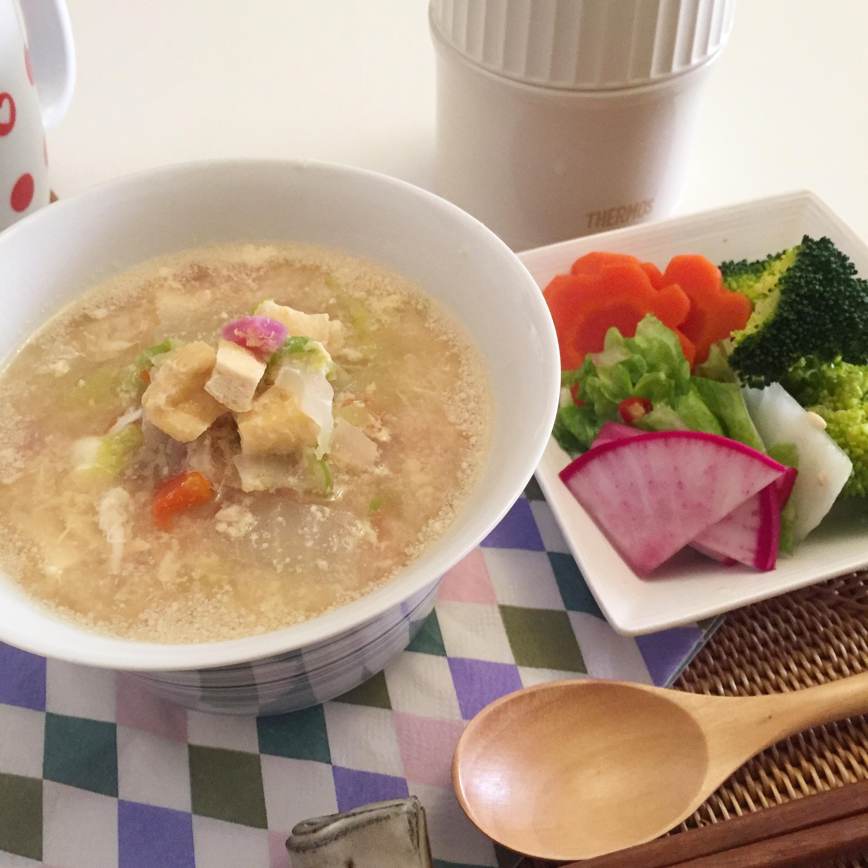 疲れた胃にはヤマノイモ、大根おろしのお粥とスープ_1_2-2