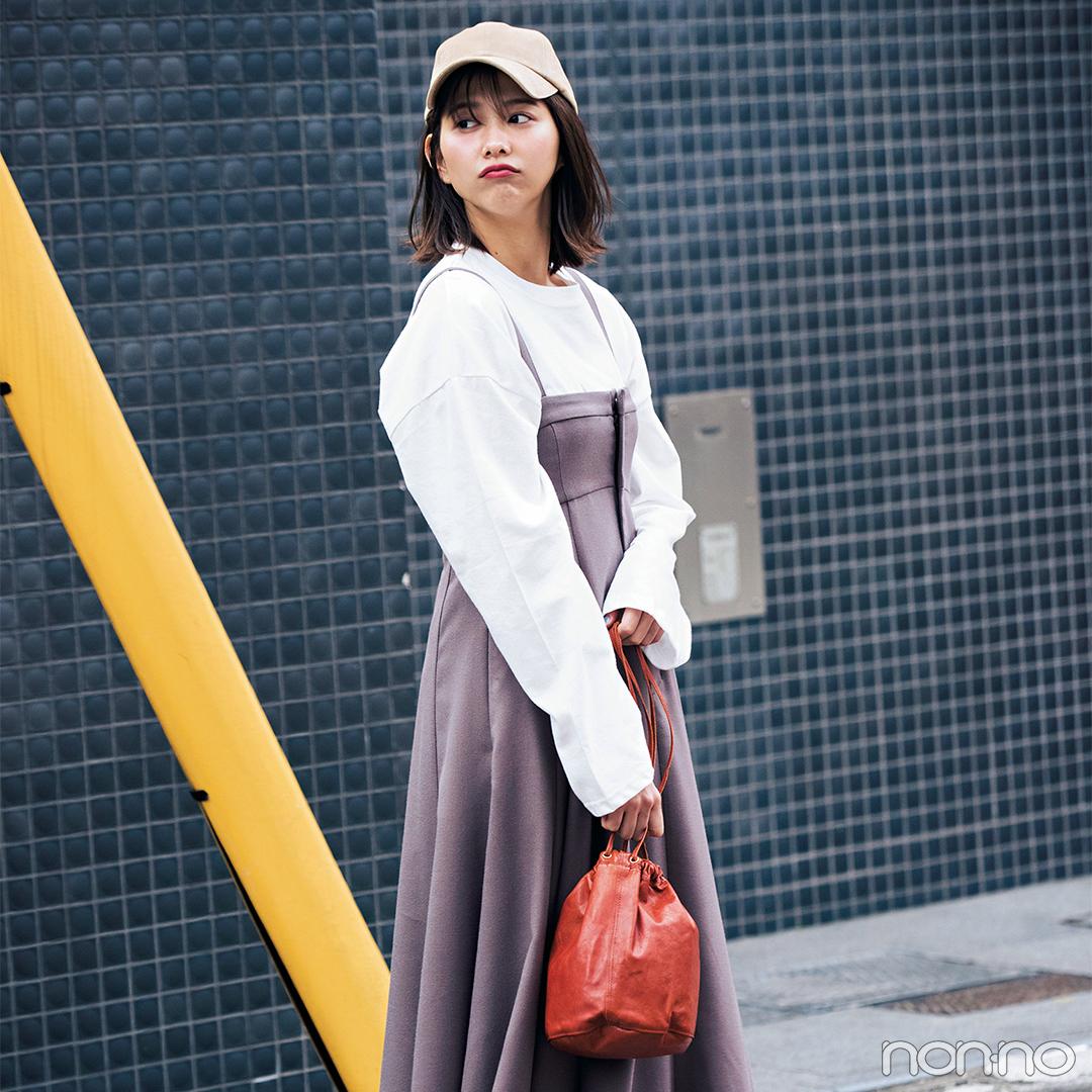 ジャンスカを今季らしく着るならインには透けシャツ♡【毎日コーデ】_1_2-2