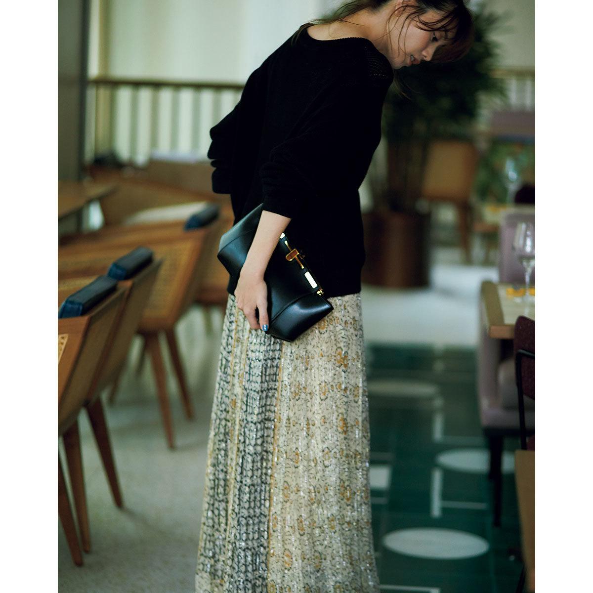■HARD BAG:固いバッグ 辛口100%の固いバッグを、フェミニン服のパートナーに