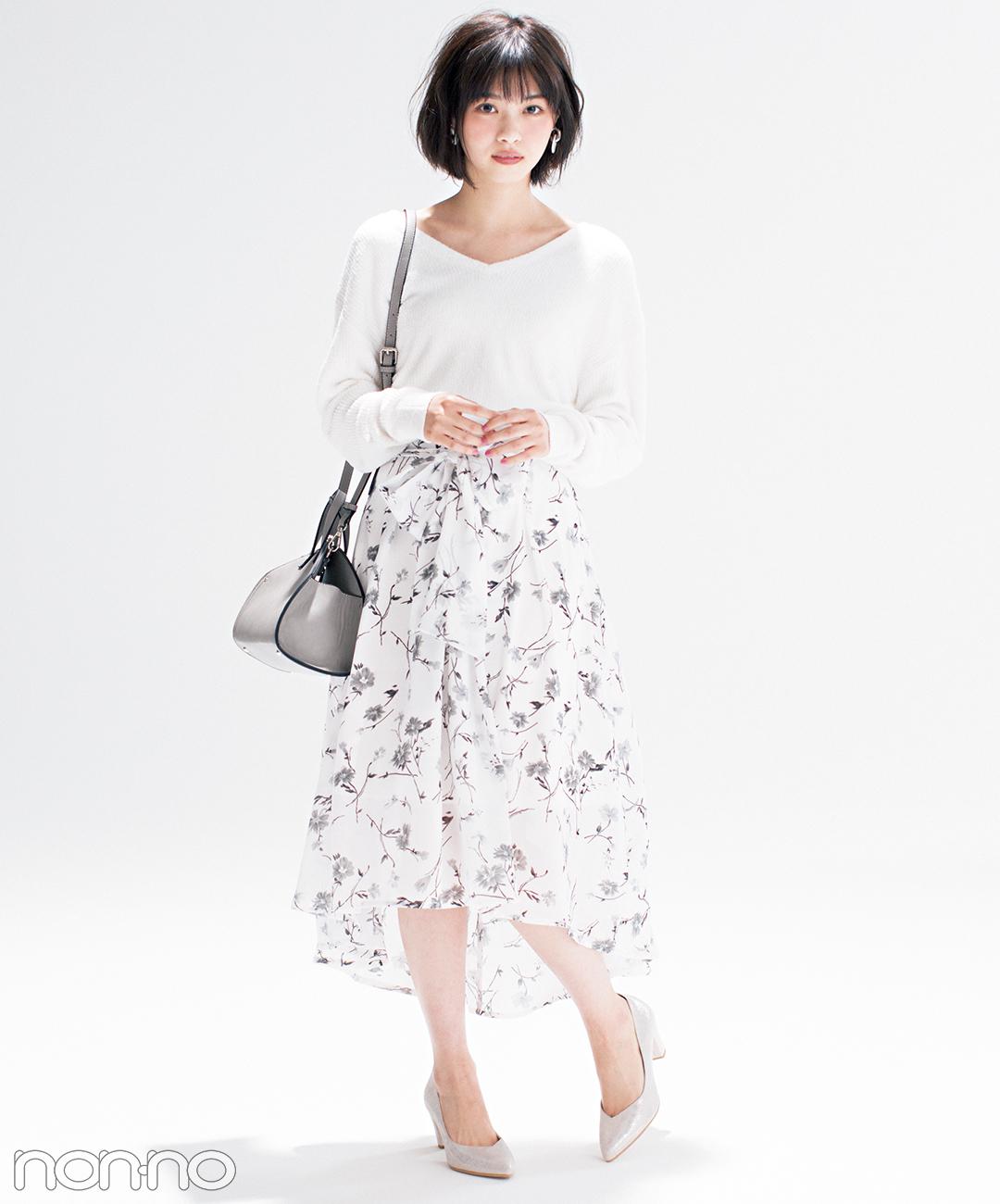 優子と七瀬がお手本♡ 女子が永遠好きな配色★白っぽワントーン2018春の4選_1_3-1