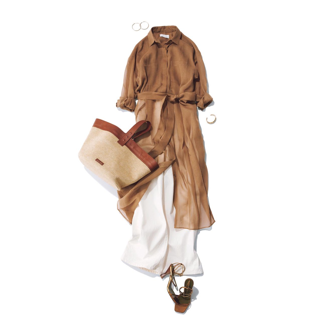 【2021トレンドシャツワンピースまとめ】アラフォーに似合う、今どきなシャツワンピのコーデ |40代ファッション_1_8
