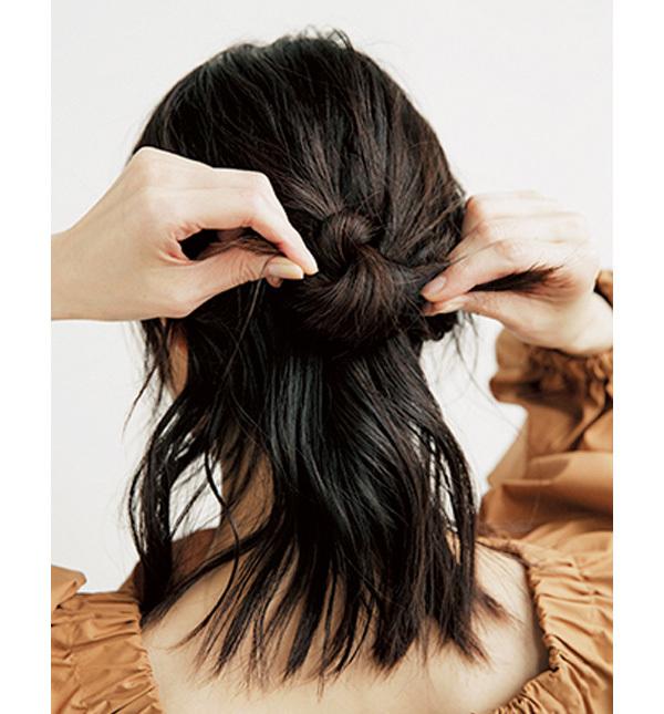 学生風にならないこなれハーフアップの作り方【40代のヘアアレンジ】_1_2-3
