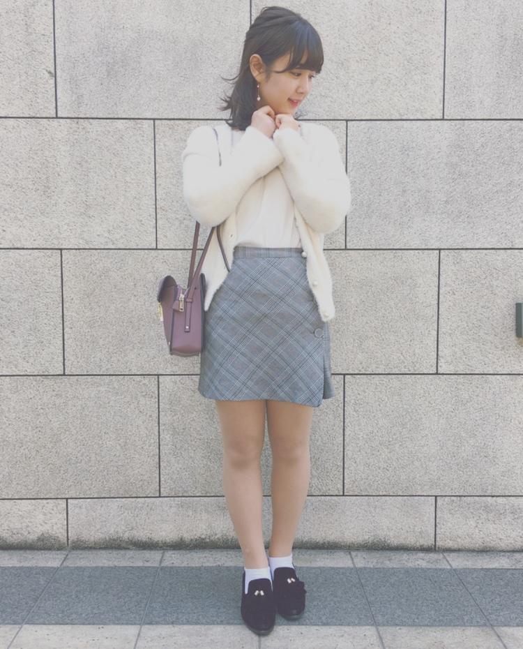 ZARAのチェックミニスカートで春のモテコーデ♡_1_2