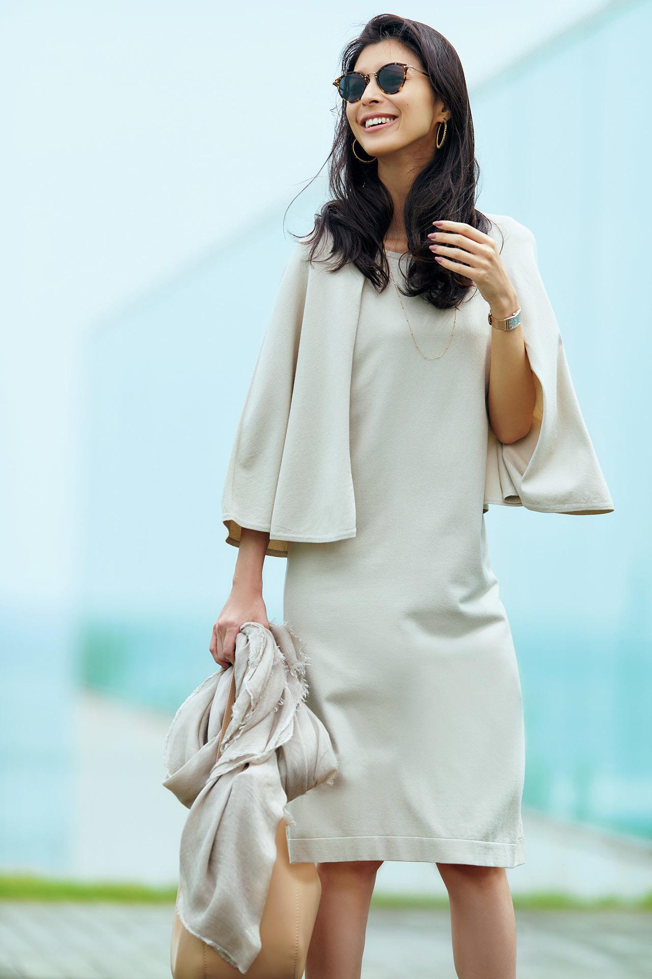 好印象、上品、しかも涼しい!袖つき限定、夏のビジネスワンピース 五選_1_1-5