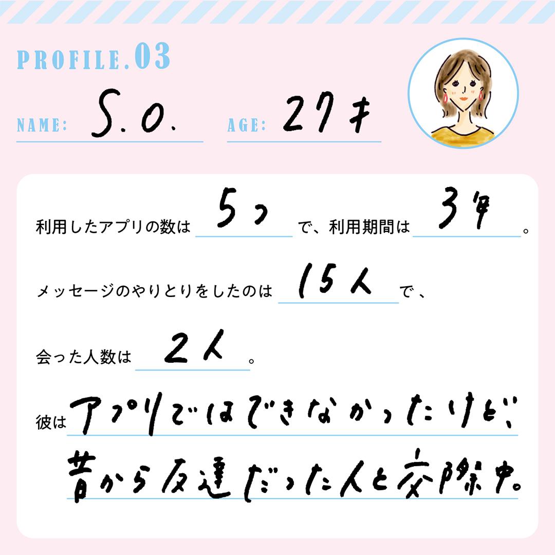 『恋活ノンノ』マッチングアプリで成功した先輩のプロフィールはコチラ!_1_3