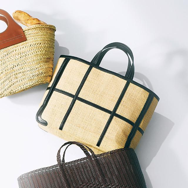 かご素材のマーケットバッグ ¥72,000/エストネーション(ラドロー)