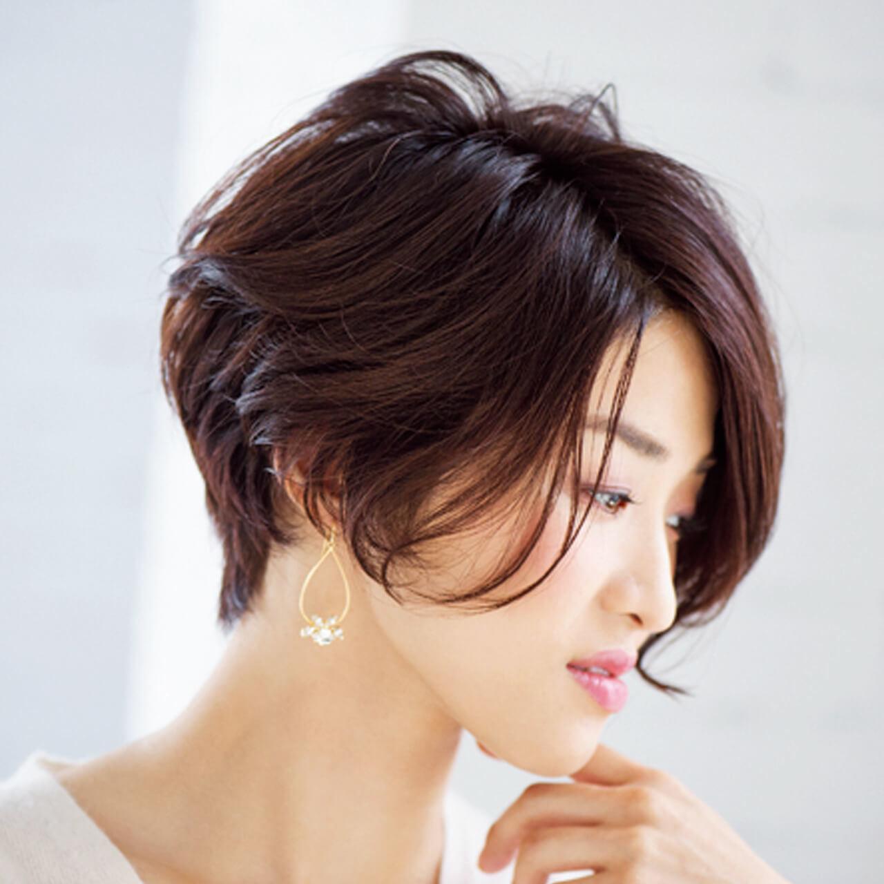 モードでありながら色っぽい!洗練されたひし形シルエットショート【40代のショートヘア】_1_4