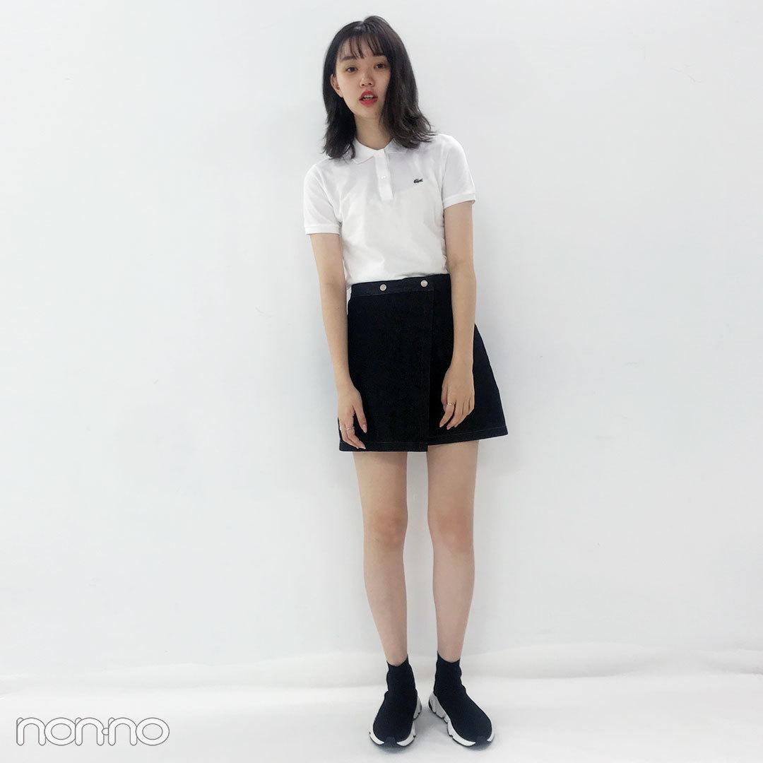 今日の愛美はラコステ×バレンシアガ×韓国で買ったミニスカート♡【モデルの私服スナップ】_1_1