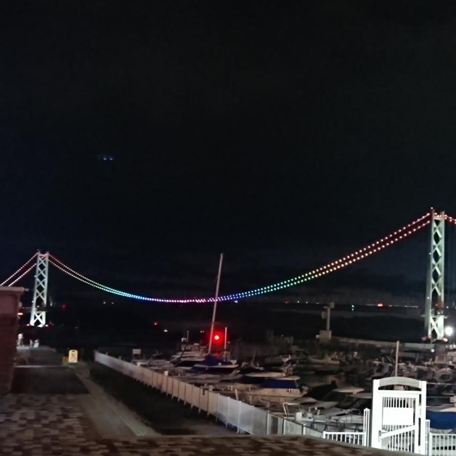 ライトアップ   橋   夜景