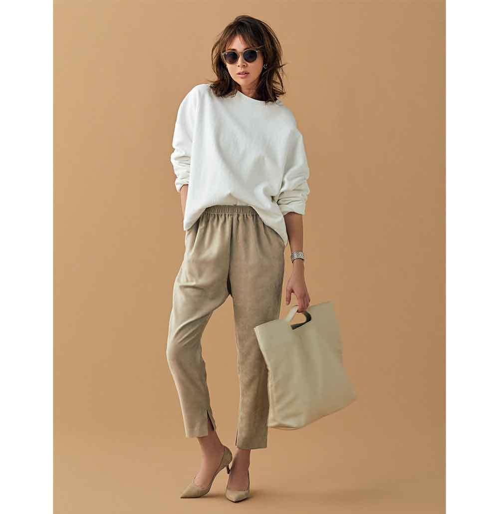 スウェット×パンツのファッションコーデ
