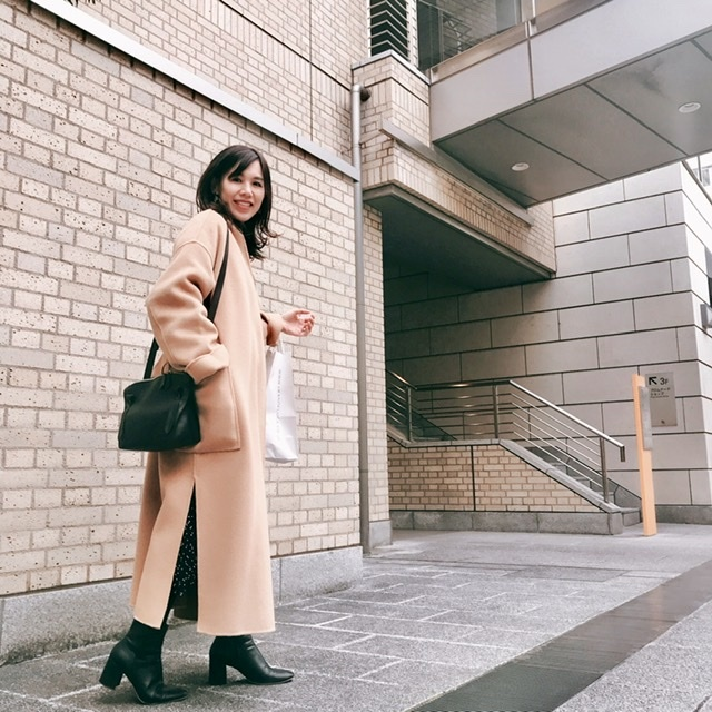 N.O.R.C ノーカラーリバーウールコートを着てみました。_1_5