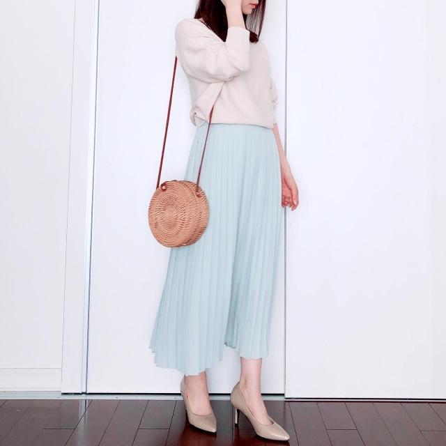 UNIQLOプリーツスカートで春爛漫【tomomiyuの毎日コーデ】_1_4