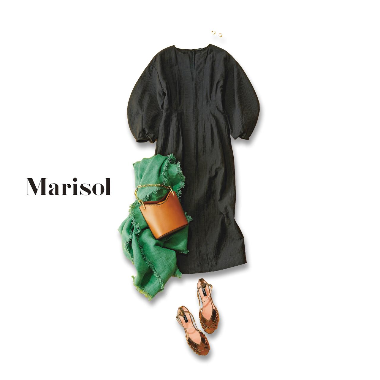 40代ファッション 美フォルムワンピースコーデ