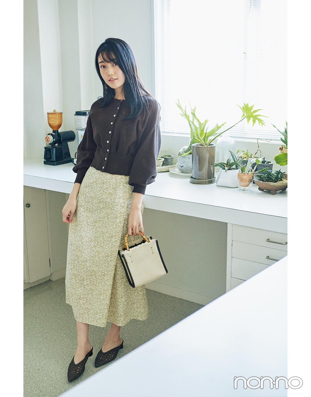 2月~3月の体感寒い日&暖かい日、小花柄スカートはこんなに使える!_1_5