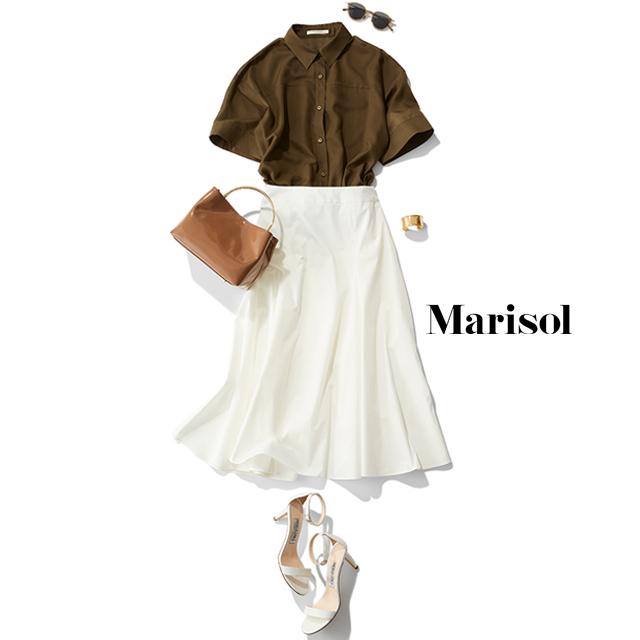 夏ワードローブに欠かせない白スカートはこのブランド