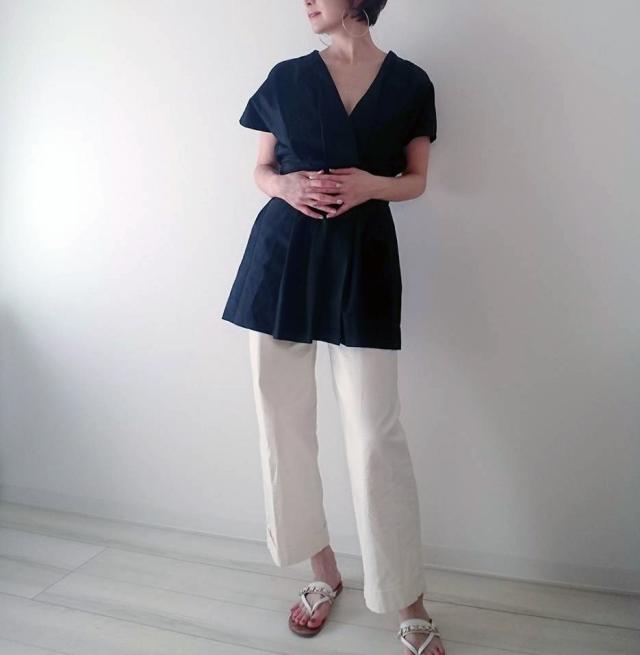 【ZARA】ブラックシャツで魅せる40代夏のモノトーンコーデ_1_3