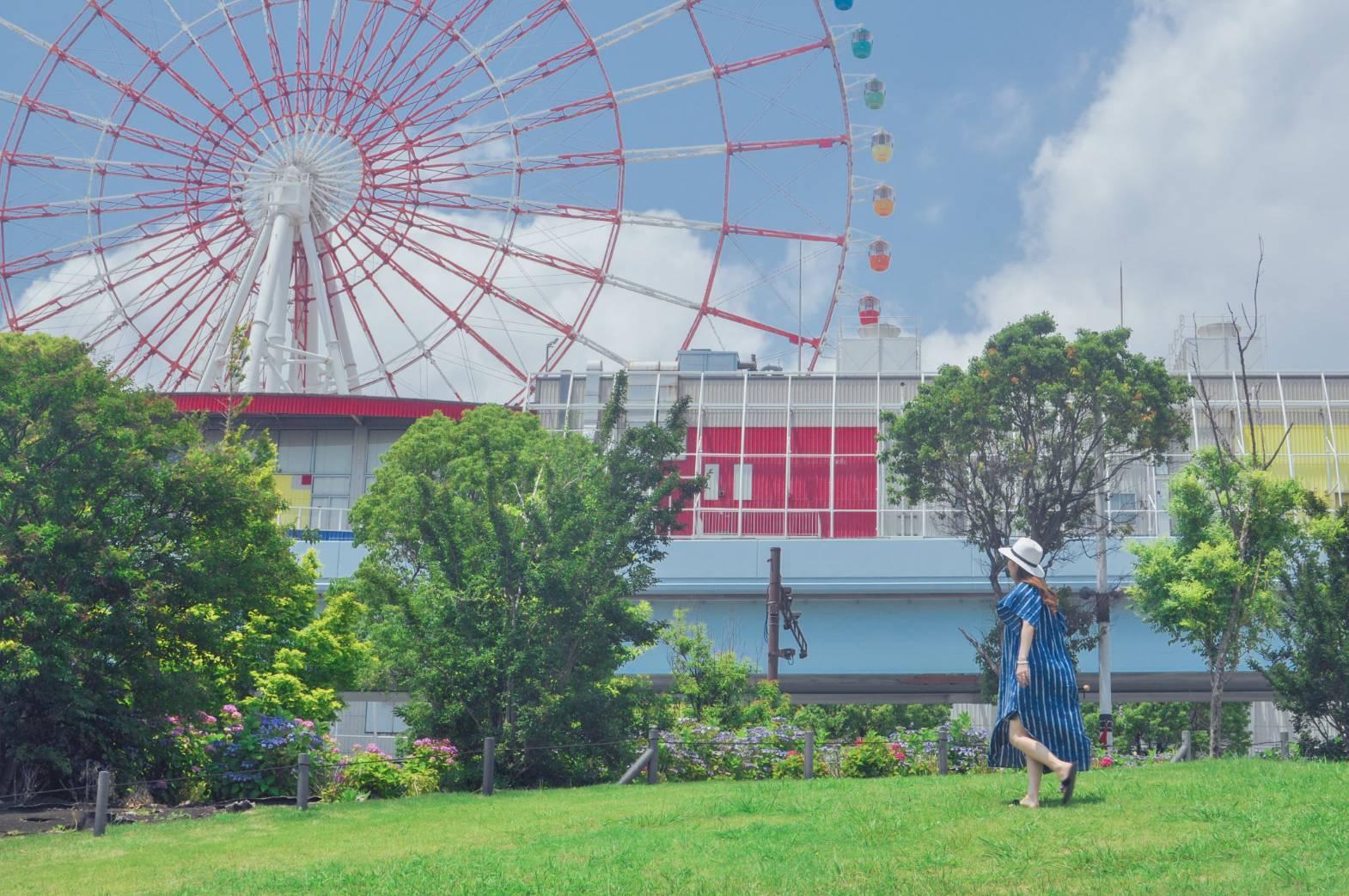 【さかぽんの冒険】初夏のお台場 あじさい散策_1_6