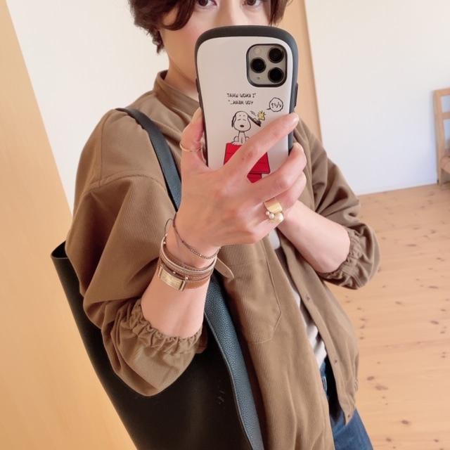 MUJI LABOの起毛ドロップショルダースタンドカラーシャツが使えます♡_1_3-2