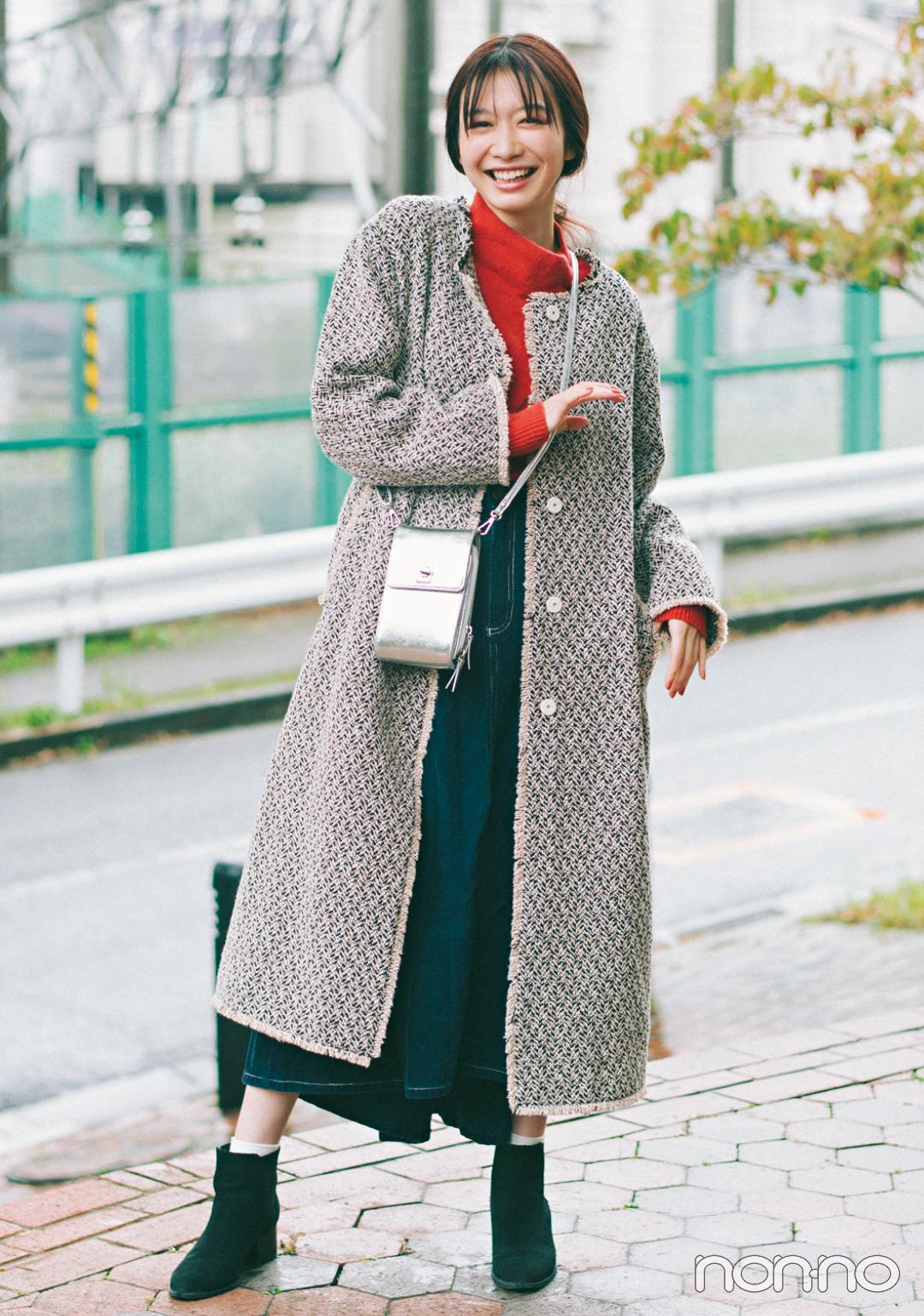 岡本夏美の冬私服♡ バッグの中身も公開!_1_3
