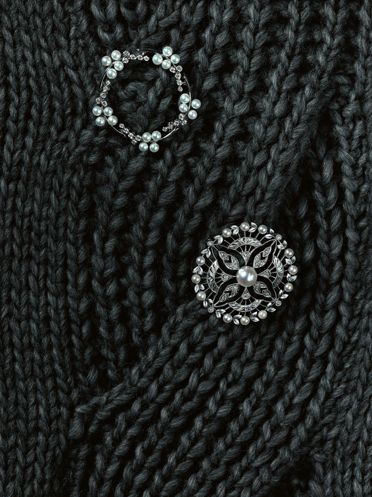 ブローチで、冬のカジュアル服にニュアンスを 五選_3_1