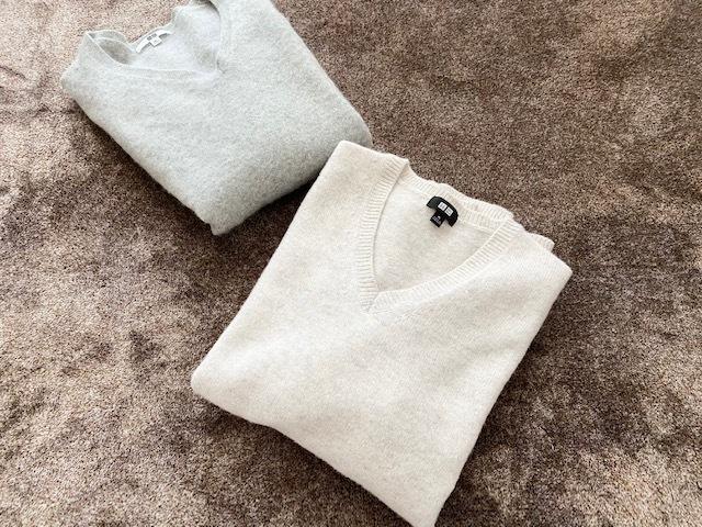 【 UNIQLO 】オートミールカラーのmen'sセーター_1_2