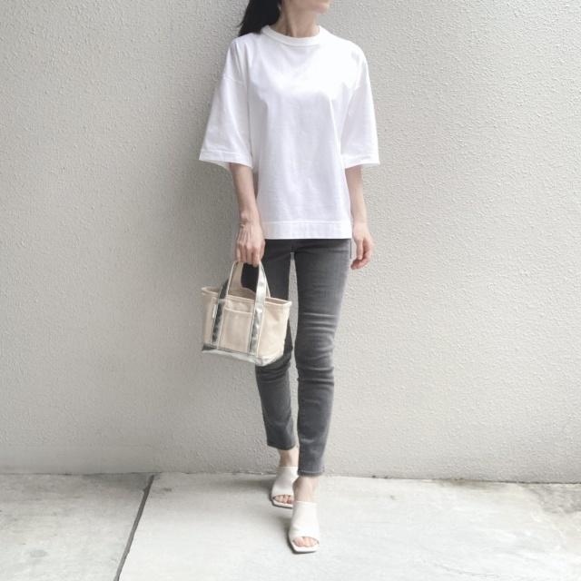 シンプルな白Tシャツの着回しコーデ_1_5