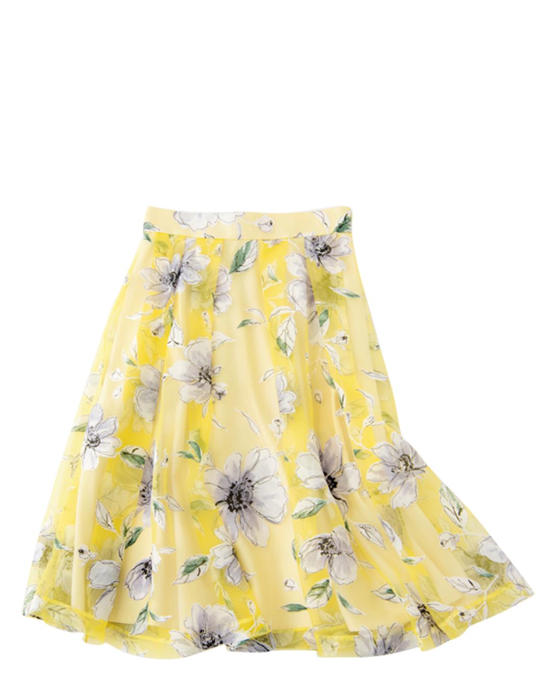 マーキュリーデュオの花柄切り替えスカートが可愛い!_1_4-2