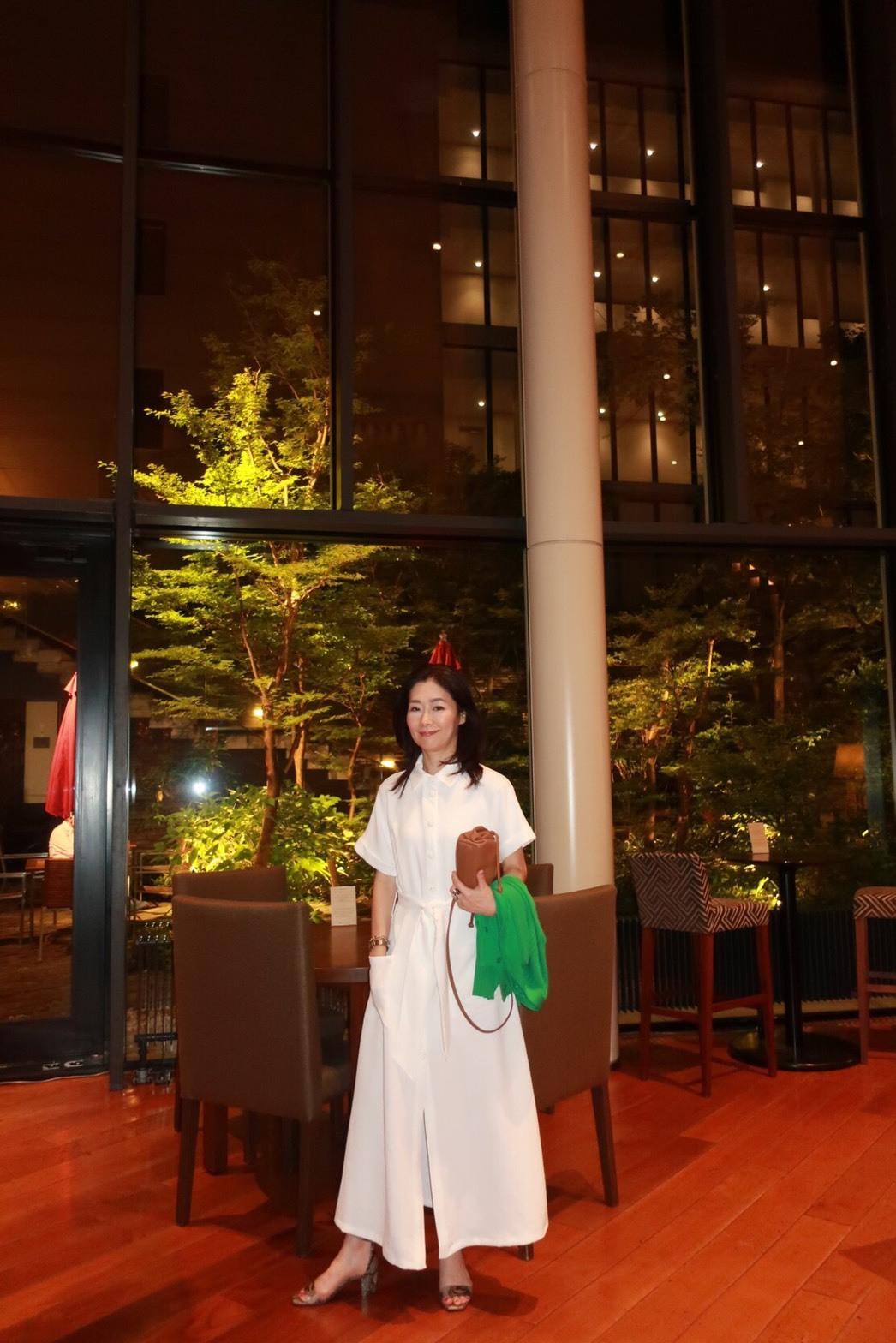 初夏、ハイアットリージェンシー箱根にZARAの白シャツワンピで_1_4