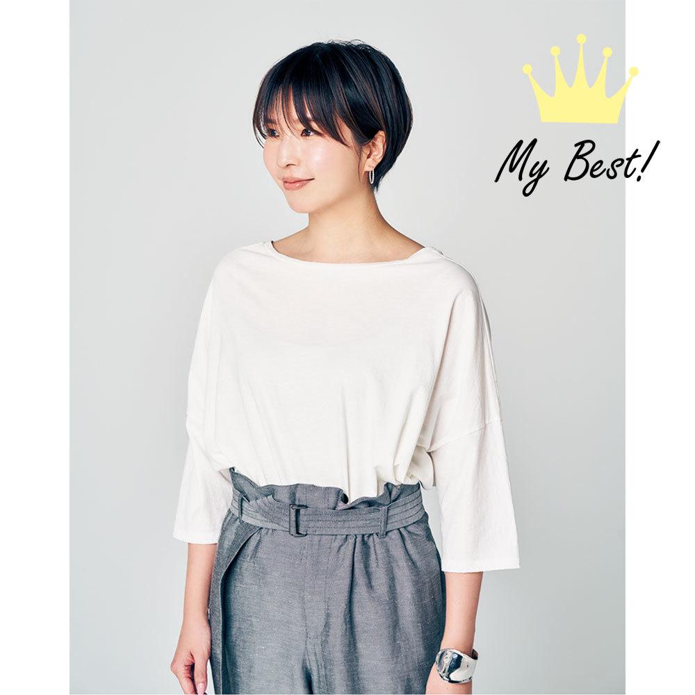 華奢に見える白Tシャツ1
