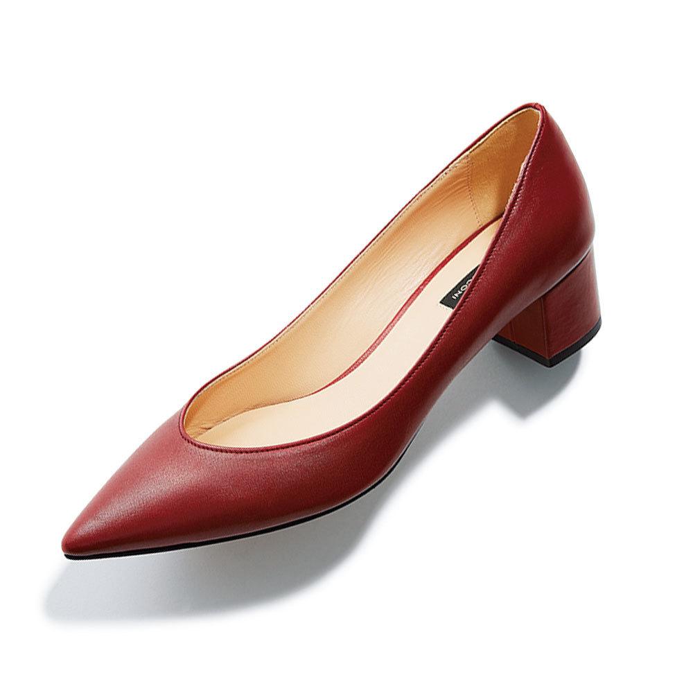 ファッション 走れるローヒールパンプルはファビオ ルスコーニのパンプス