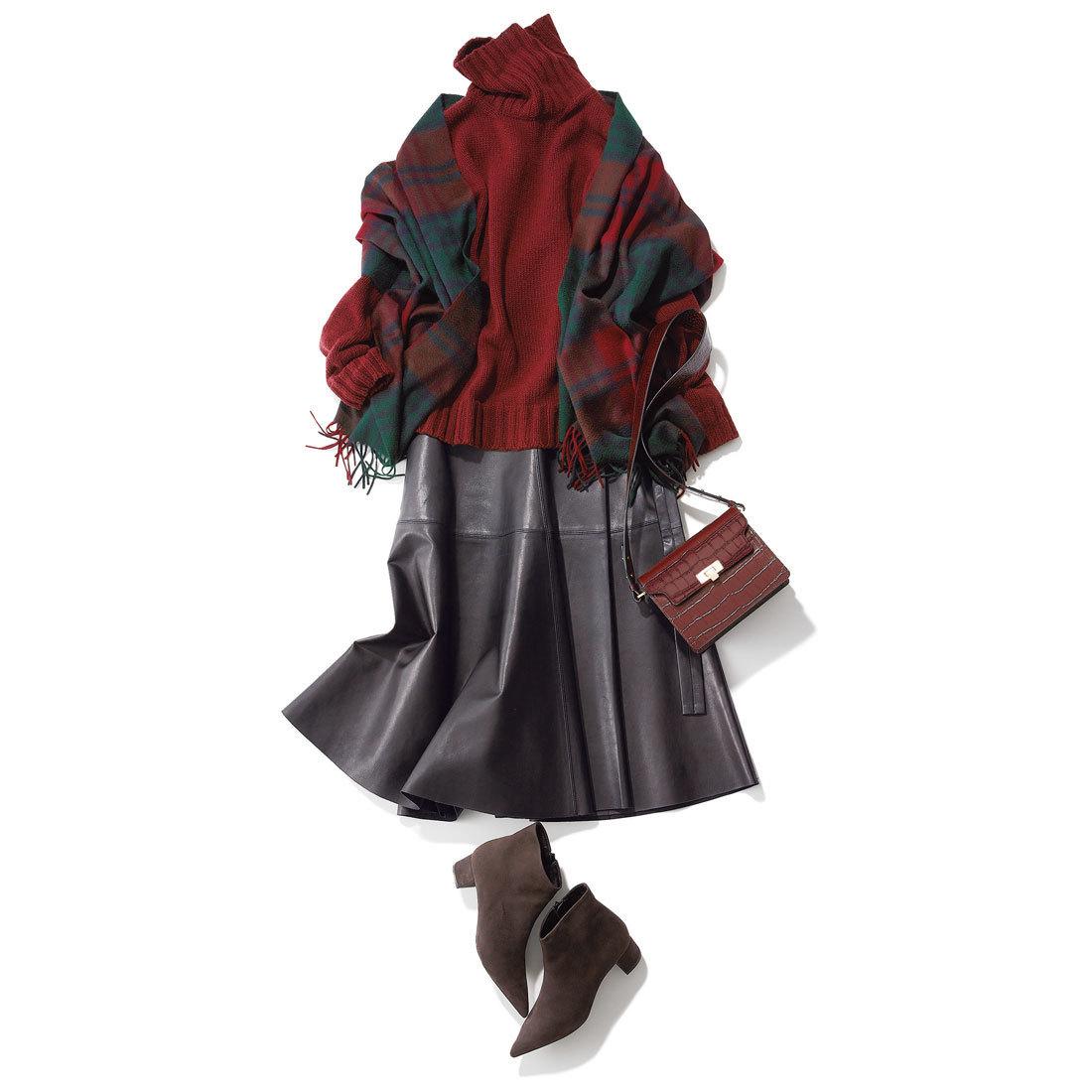 エイトンのレザーラップスカート
