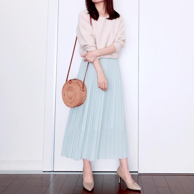 UNIQLOプリーツスカートで春爛漫【tomomiyuの毎日コーデ】_1_2