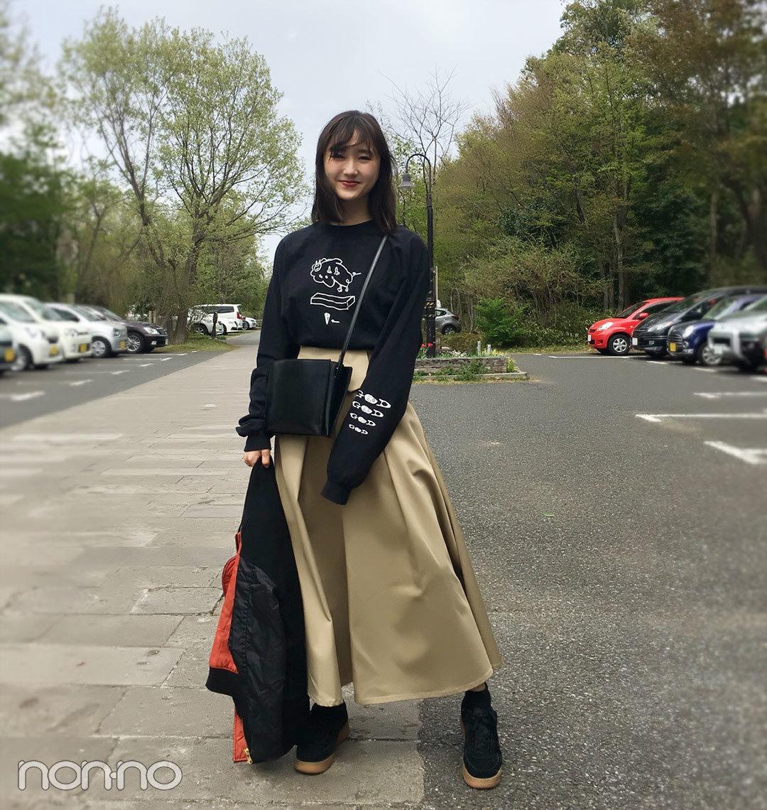 鈴木友菜のコーデの主役はRIM.ARKのチノスカート♡ ロンTで今っぽ可愛く!【モデルの私服スナップ】_1_1
