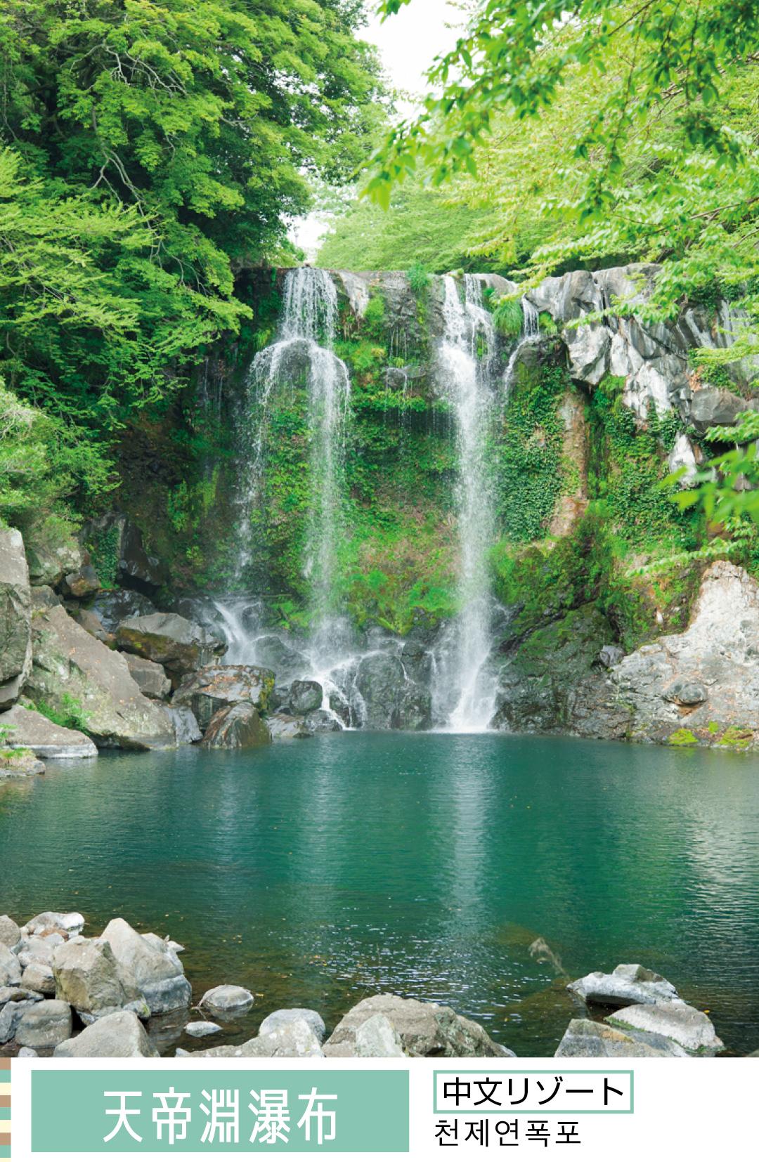 天帝淵瀑布 中文リゾート 천제연폭포