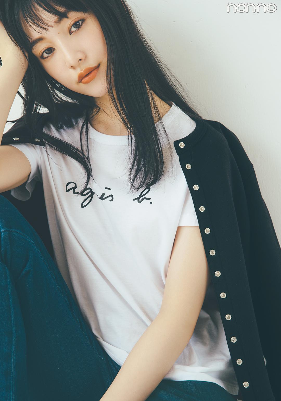 agnès b.(アニエス ベー)のロゴものがキテる♡ Tシャツ、キャップ…秋の新作も!_1_6