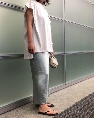 E by eclat 艶とろIラインスカート ¥18,700