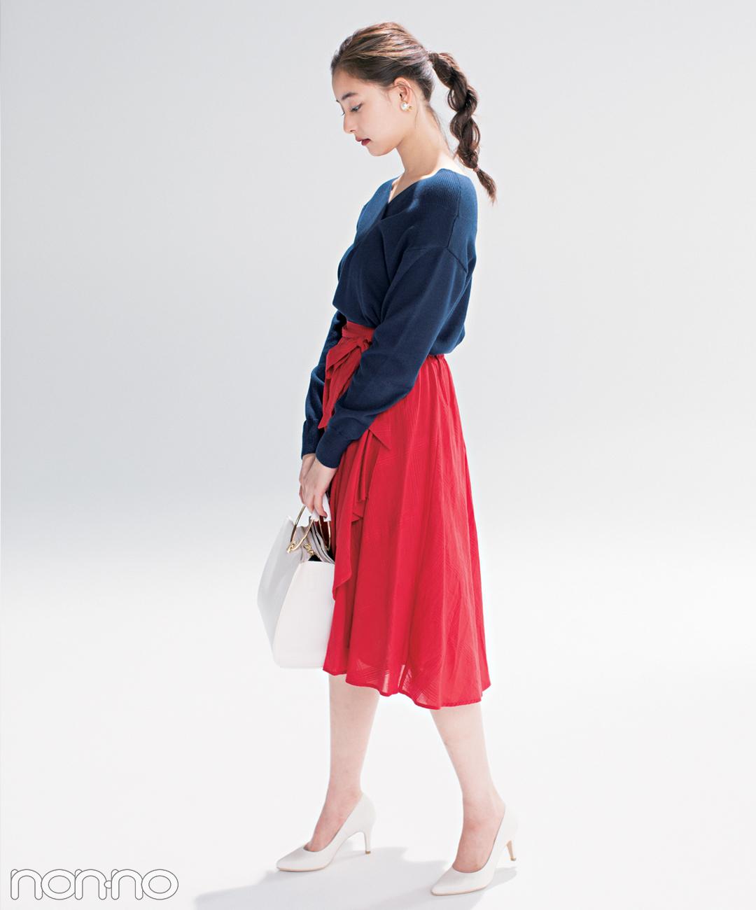 優子・七瀬・まなみんが着る! おしゃれ度急上昇♡ 赤×ネイビー×白の春コーデ4選_1_3-1
