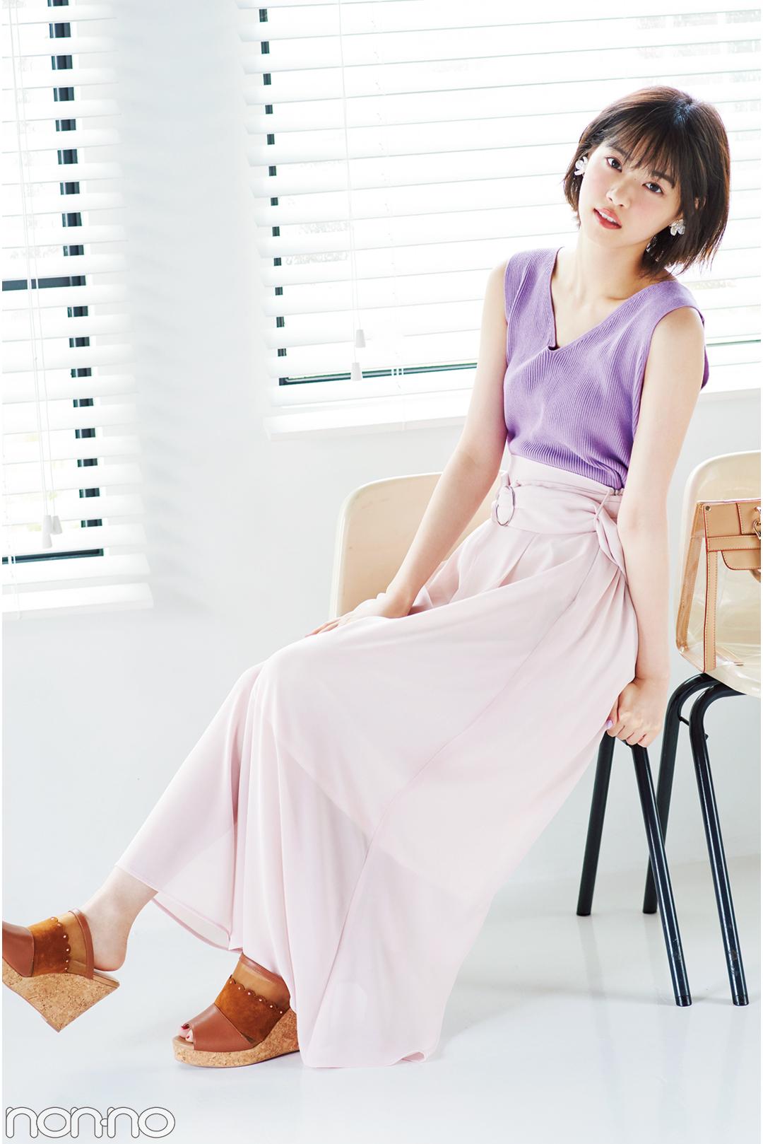 西野七瀬が着る♡ フェミピンクのスカパン、夏コーデ3選!_1_3-3